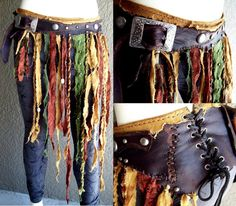 Tattered Pouch Belt by Xavietta.devianta… on Summer Trends Festival Skirts, Festival Costumes, Fairy Skirt, Grandeur Nature, Steampunk Skirt, Fairy Clothes, Tribal Fusion, Gypsy Skirt, Renaissance Clothing