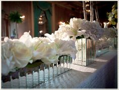 mirrored centerpieces Brides and Blooms: A Simply Perfect Chicago Event
