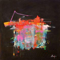 Pendulum - abstract art by Sophia Fine