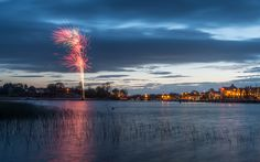 Fireworks in Carrick-on-Shannon, Leitrim