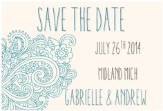 Marry Me In Michigan: Save the Date {FREE PRINTABLES}