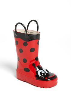 Little ladybug boots for your little ladybug.
