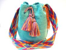 "The Bags, known as ""Susu"", are part of the artisan tradition of the Wayuú. This is an art that utilizes a creative mix of colors, and requires patience and an attention to detail to make the finished product; it takes a woman 20 days to create one of these very bags. www.susustyle.com The Wayúu Tayá Foundation Patricia Velásquez"