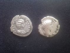 Roman Silver Denarius Julia Avgusta-Markus Aurelijus. Roman, Coins, Personalized Items, Stone, Silver, Rock, Rooms, Stones, Batu