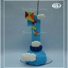 Vela para Topo de bolo, tema Pipa