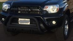 Aftermarket grille upgrade and bull bar from www.PureTacoma.com. Your Toyota Modification headquarters.