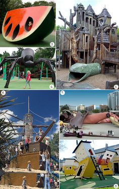 Playgrounds around the world, I want to build a unique childrens playground at the B :)