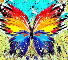 Butterfly Canvas, Butterfly Drawing, Butterfly Painting, Butterfly Watercolor, Butterfly Wallpaper, Love Wallpaper, Butterfly Wings, Watercolor Art, Planet Drawing