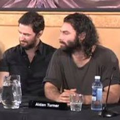 Two of my favorite Brits - Richard Armitage (left) and Aidan Turner (looking almost unrecognizable on the right!)