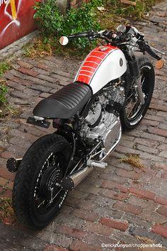 red & white virago custom