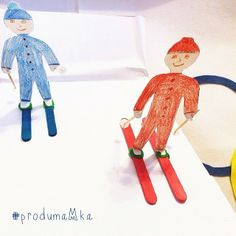 Winter Olympic games.  More crafts ideas for kids ► Instagram @ produmaMka