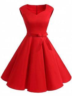 511e61b68b Vintage Sweetheart Neck Pin Up Dress