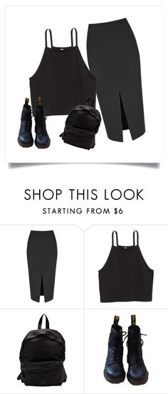 """Black"" by vikavika-cciv on Polyvore featuring мода, Glamorous, Officine Creative и Dr. Martens"