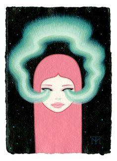 Tara McPherson   ART Paintings Wandering Luminations Aurora
