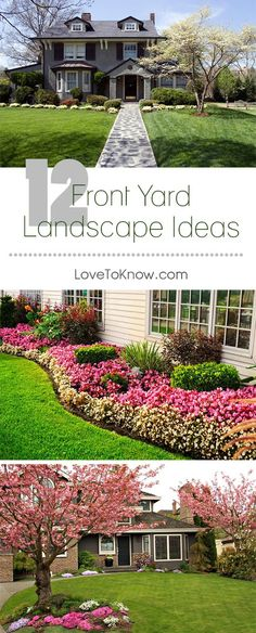 Curb appeal is everything! Make your house the best looking in the neighborhood with these beautiful front yard landscaping ideas.   12 Front Yard Landscaping Ideas from #LoveToKnow