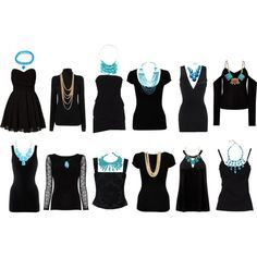 """""""Choosing Necklaces for necklines"""" by elenapowell on Polyvore"""