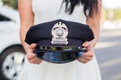 Engaged to a police officer? A woman loves a man in uniform. Utah Wedding Photographer. Whitney Hunt Photography