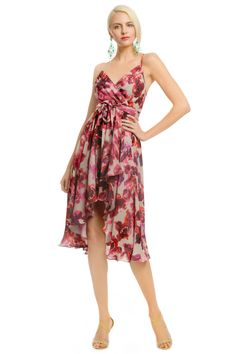 Haute Hippie Electric Rose Dress rent the runway engagement photo