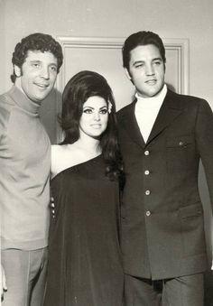 Tom Jones, Priscilla & Elvis Presley . Las Vegas 1969