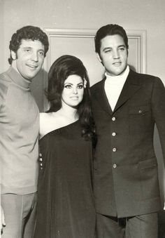 Tom Jones, Priscilla & Elvis Presley . Las Vegas 1969 Tom and Elvis two of my favourites and Priscilla is so stunning!