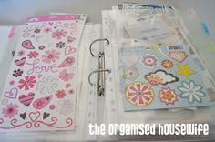 Scrapbooking: Organizing – Letters, Rubon's