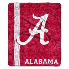 Alabama Crimson Tide Blanket - 50x60 Sherpa - Jersey Design