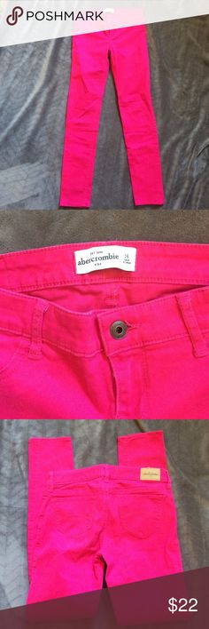 Abercrombie Kids Bright Pink Jeggings size 16 Excellent used condition abercrombie kids Bottoms Jeans
