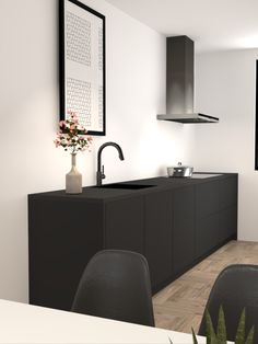 Parallel Kitchen Design, Kitchen Interior, Kitchen Decor, Küchen Design, Interior Design, One Wall Kitchen, Home And Living, Interior Inspiration, Home Kitchens