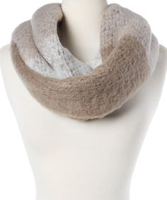Look at this Steve Madden Taupe Fuzzy Infinity Scarf on #zulily today!