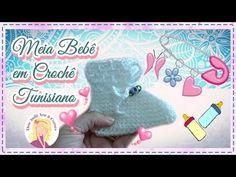 Meia Bebê em Crochê Tunisiano - YouTube