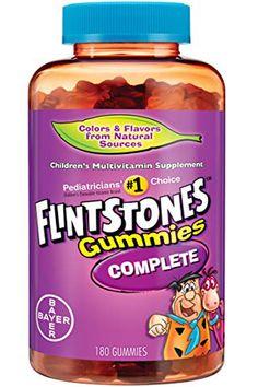 Flintstones Gummies Children's Multivitamins, Kids Vitamin Supplement with Vitamins C, D, E, and 180 Count Children's Vitamins, Vitamins For Kids, Healthy Brain, Natural Flavors, Count, Food, Essen, Meals, Yemek