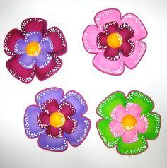 flores en foami-foamy