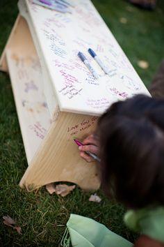 Cool Guest Book Ideas For Wedding | ... wedding guest book, unique guest book ideas for wedding, bench guest
