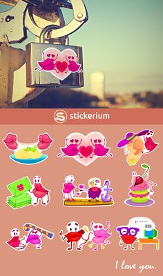 Make stickers from our unique pictures! Lips have feels!