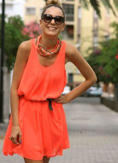 Fabulous Frock - and the orange sherbet color tops it off!