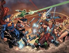 comics Justice League vs Master of the Universe