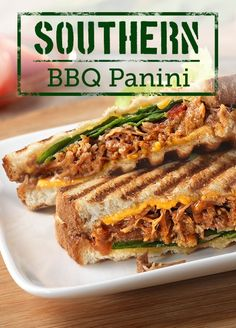 Southern BBQ Panini – This panini is perfect! The slow cooker barbecued pulled pork is delicious, and the recipe is ready to enjoy in just 25 minutes time.