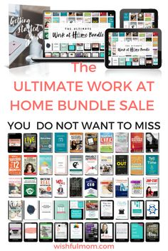 Have you been wanting to work at home? or trying to balance work and life? Save over $2000 on these WORK AT HOME Resources. Check it out...