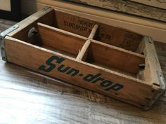 #antique Very Rare Vintage Sundrop Wood Soda Pop Crate Pulaski Tennessee please retweet