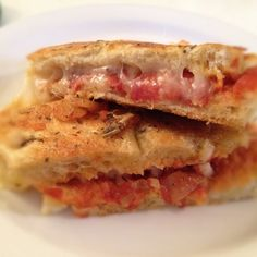 Pepperoni panini…is it grilled cheese or pizza? Either way, it looks delicious!