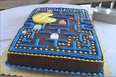 Pac+man+themed+cake.jpg 450×300 pixels