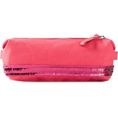 Vanessa Bruno Sequin Embellished Pencil Case ($32) ❤ liked on Polyvore featuring home, home decor, office accessories, filler, red and vanessa bruno