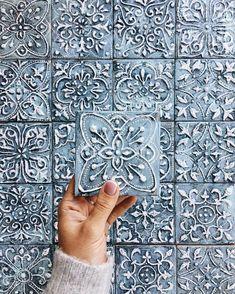 Clay Tiles, Ceramic Tile Art, Interior Decorating, Interior Design, Handmade Tiles, Tile Patterns, Tile Design, Boho Decor, Home Deco