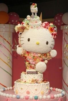 Japanese, Hello Kitty Cake. Now I know it's not your birthday. But I couldn't help myself when I saw this and I don't know how in the world we are gonna cut it. LOL *smiles* <3 <3 <3 ~PT