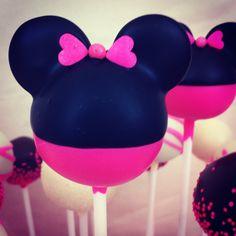 Minnie Mouse Cake Pops. $28.00, via Etsy.