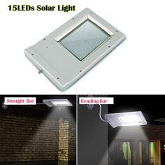 UniqueFire 15LED Outdoor Solar Light Waterproof Energy-Saving Wall Lamp Solar Powered Panel Street Light Solar Sensor Lighting