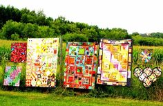 #Quilts on a Fence #outdoorquitshow #persimondreams