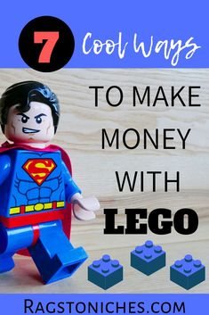 Here are 7 ways to make money with Lego! If you're looking to make money from your hobbies online or ways to make money as a kid or teen - then maybe you could make money online from your Lego hobby! by ragstoniches Read Cash From Home, Make Money From Home, Way To Make Money, How To Make, Cool Stuff To Make, Lego Online, Online Cash, Online Jobs, Hobbies To Try