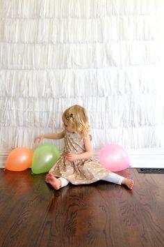 DIY white backdrop // shiny happy sprinkles