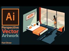 Drawing Perspective Vector Art in Adobe illustrator - YouTube